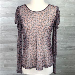 Sheer Blouse Modern Romantic Floral
